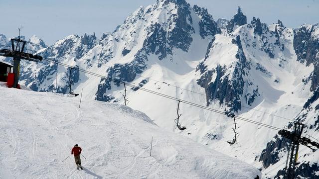 Skigebiet Andermatt mit bisherigem Sessellift
