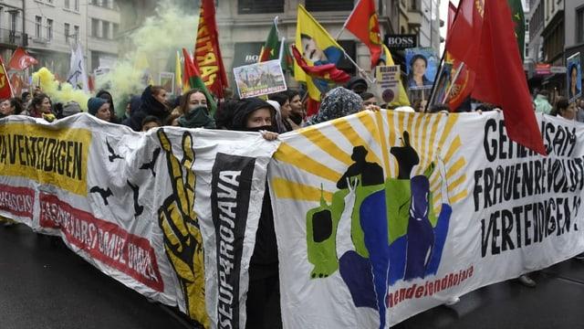 Demonstration im November in Basel