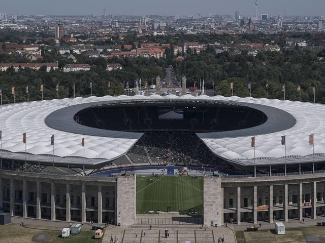 Fussballstadion in Berlin