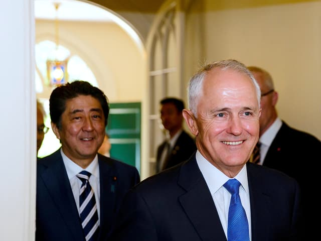 Abe und Turnbull in Sydney.