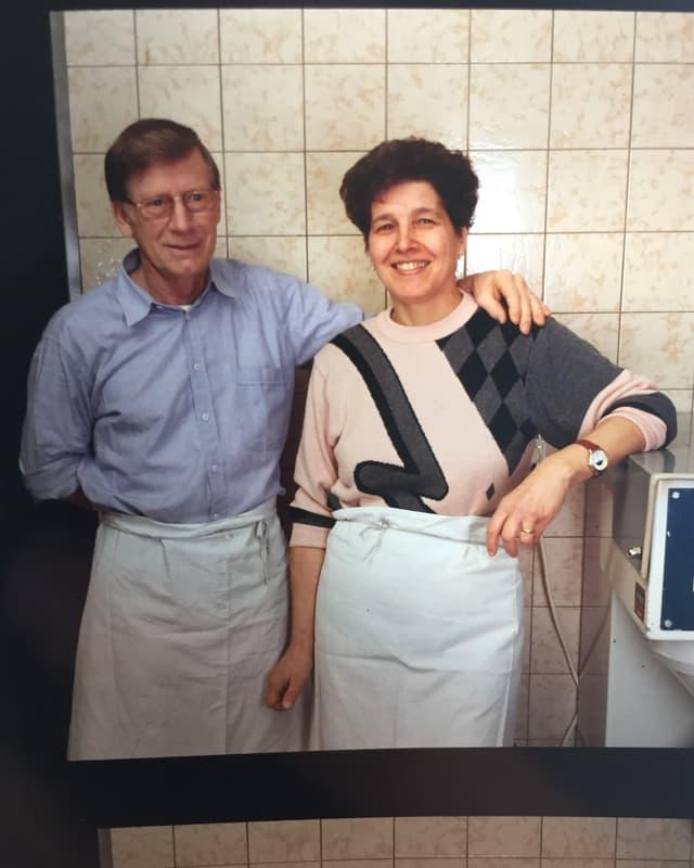 Fotografia or da l'archiv da Sigisbert Euster barmier e Martha Eugster.