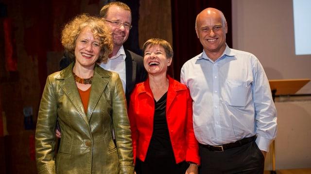 Treten alle nochmals an: Corine Mauch, Raphale Golta, Claudia Nielsen und André Odermatt (v.l.n.r.).