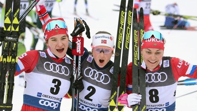 da sanester: Natalia Neprjajewa da la Russia, Ingvild Flugstad Östberg da la Norvegia ed Anastassija Sedowa da la Russia.
