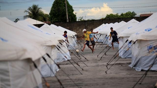 UNHCR-Lager in Brasilien