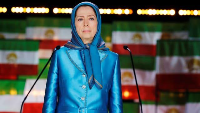 Eine Frau bei einer Rede