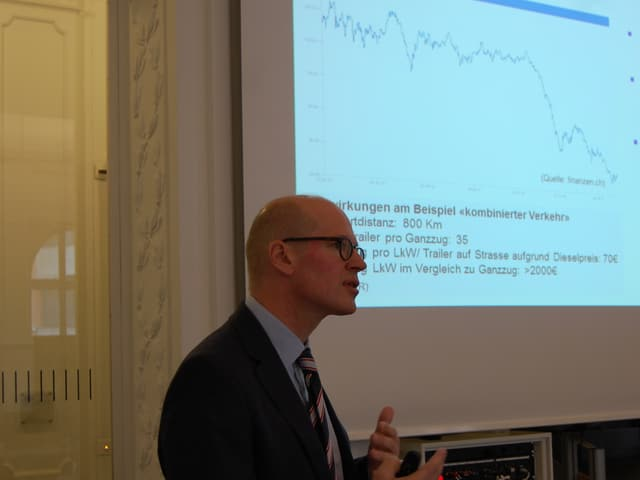BLS Cargo-CEO Dirk Stahl und der Dieselpreis für die Lastwagen-Konkurrenz.