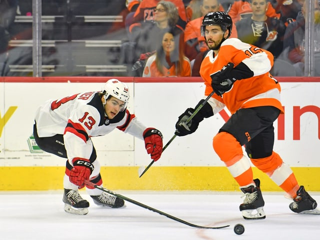 Nico Hischier im Spiel gegen die Philadelphia Flyers.
