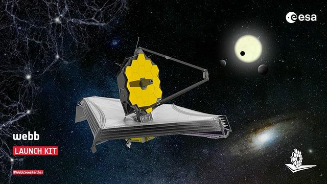 Abbildung des James-Webb-Teleskops