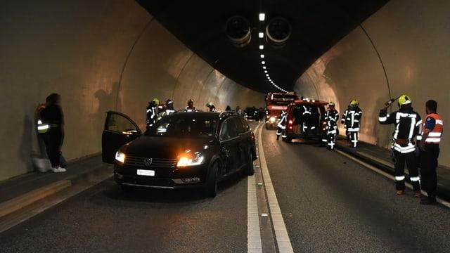 Accident en il tunnel da Trin.