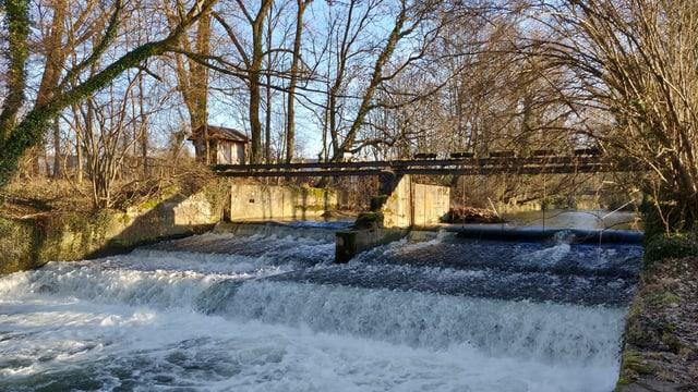 Stufe in einem Fluss