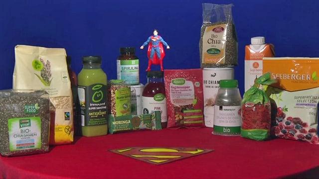Superfood-Produkte.