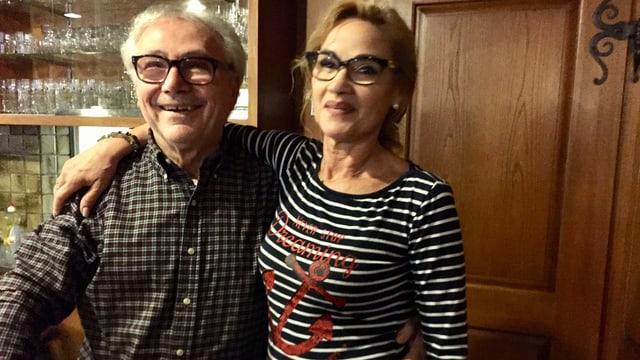Das Wirtepaar Mario und Donatella des Centro Italiano in Appenzell.
