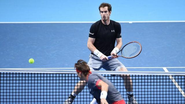 Murray und Ferrer am Netz.