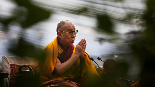Dalai Lama am Referieren