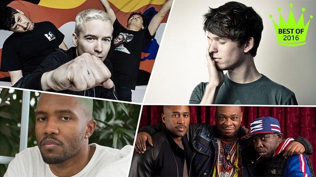 James Blake, A Tribe Called Quest, Frank Ocean, The Avalanches