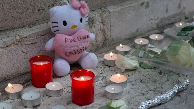 Trauer um getötete Adeline im September 2013 in Genf
