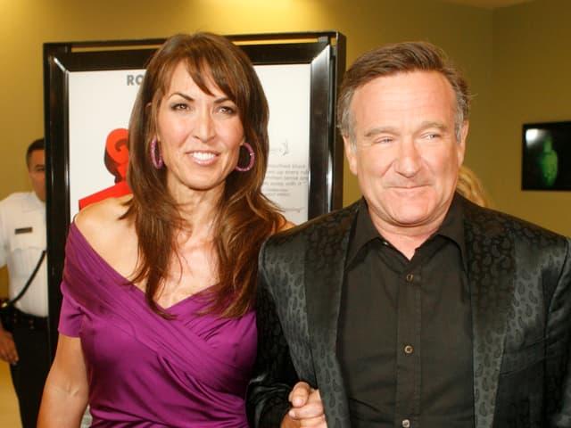 Susan Schneider und Robin Williams.
