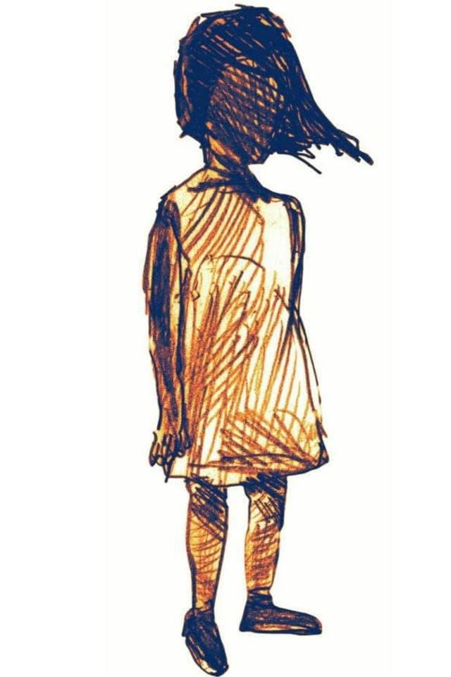 Die Zeichnung der fiktiven Figur «Yuna»