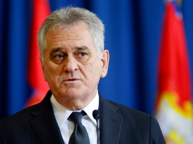 Serbiens Präsident Tomislav Nikolic.