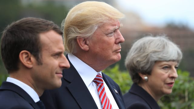 Macron, Trump und May