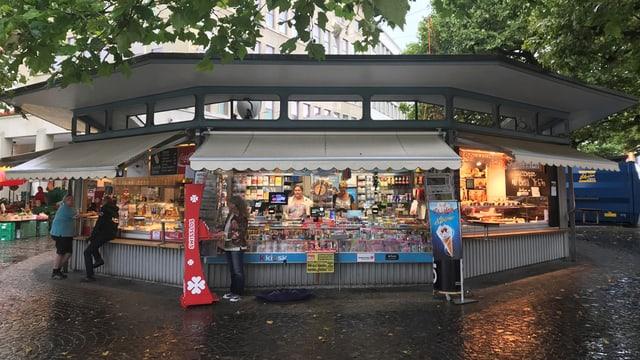 """Die """"Rondelle"""" ist ein Kiosk in der Stadt St.Gallen."""