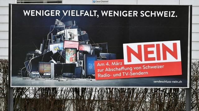 Plakat der Gegner von «No Billag».