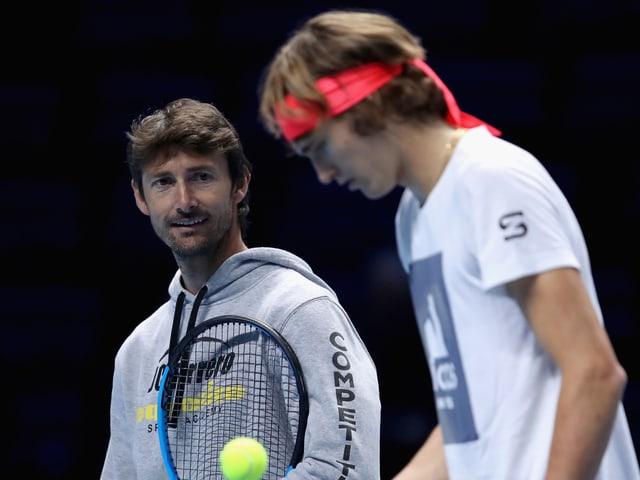 Juan-Carlos Ferrero und Alexander Zverev.