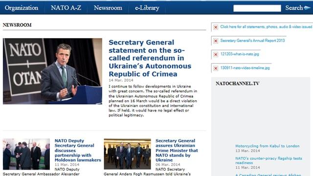 Printscreen Nato-Webseite