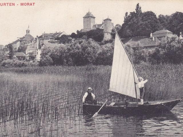 Alte Fotografie von Murten.