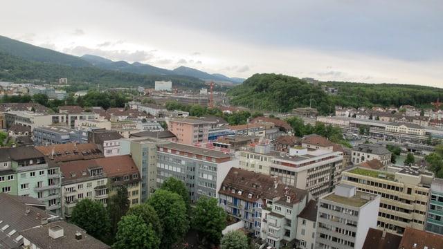 Blick über die Stadt Olten vom Stadthaus aus.