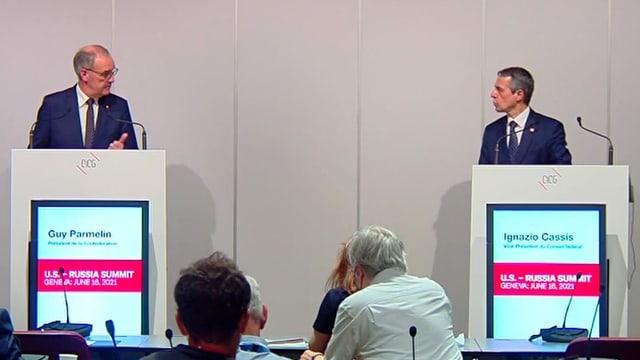Bundespräsident Parmelin und Aussenminister Cassis