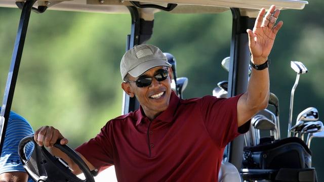 US-Präsident Barack Obama am Golfen