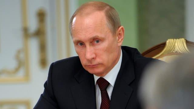 Porträt von Putin.