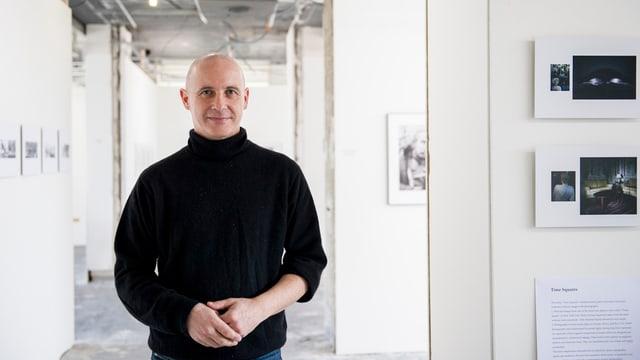 Initiant Romano Zerbini in den Räumen der «Photobastei 1.0».