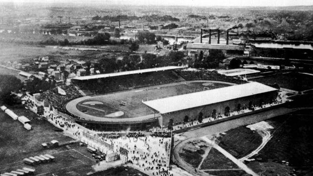 Das Stade de Colombes in Paris.