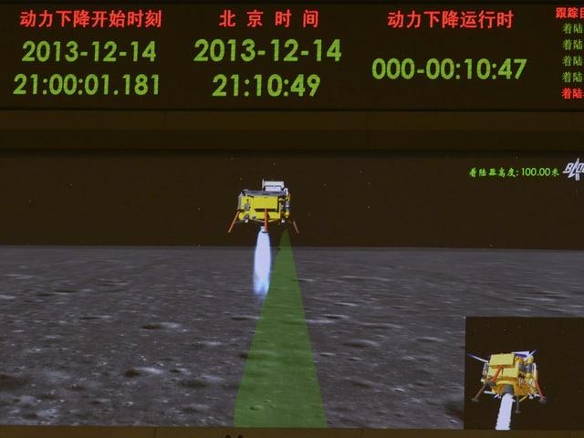 Aufnahme eines Bildschirmes in einem Kontrollzentrum.