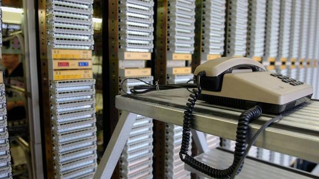 Telefonzentrale.