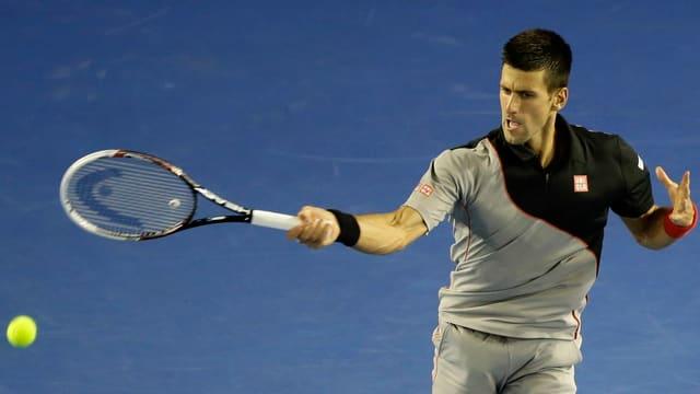 Novak Djokovic während seiner Partie gegen Denis Istomin.