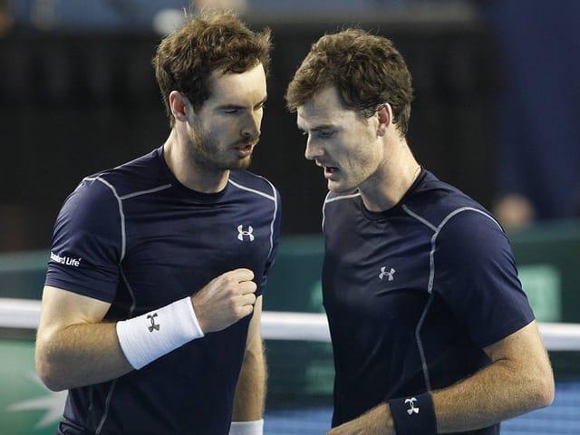 Andy (links) und Jamie Murray