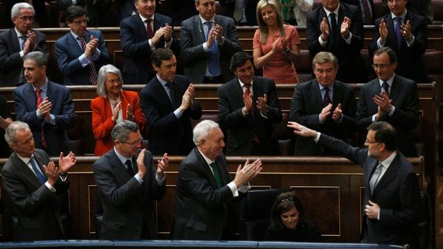 Spaniens Ministerpräsident Mariano Rajoy im Parlament.