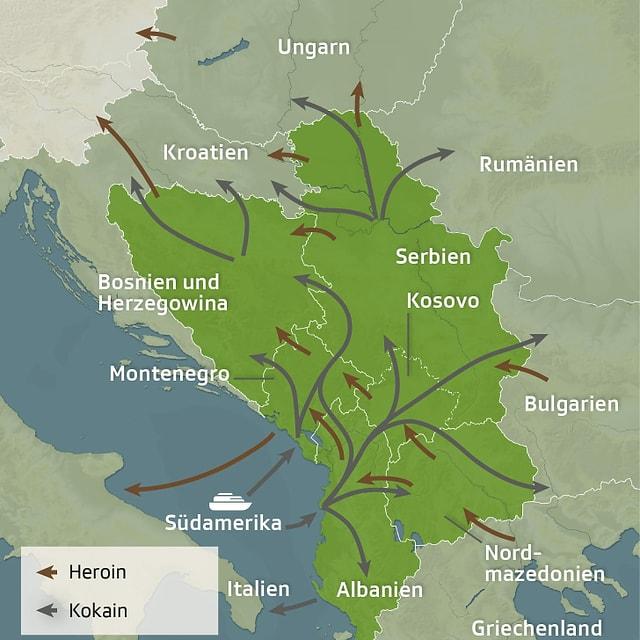 Grafik Balkanroute