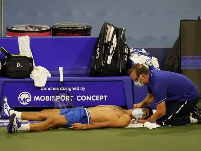 Djokovic hatte diese Woche mit der Fitness zu kämpfen.