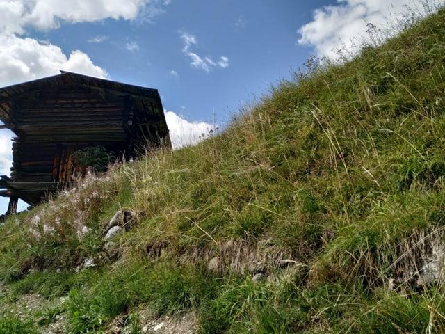 Viele Korn- und Heuspeicher stehen in den Walsern- Gebieten auch heute noch auf Stützen wie im Wallis