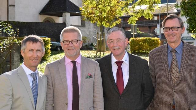 Purtret da Hans-Andrea Tarnutzer, Hans Peter Kocher, Christian Brosi und Jürg Knaus.