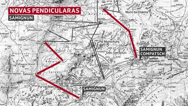La situaziun da la regiun Samignun / Ischgl