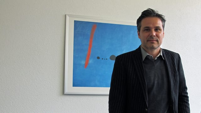 Daniel Hodel, Stadtratskandidat der Grünliberalen, in seinem Büro