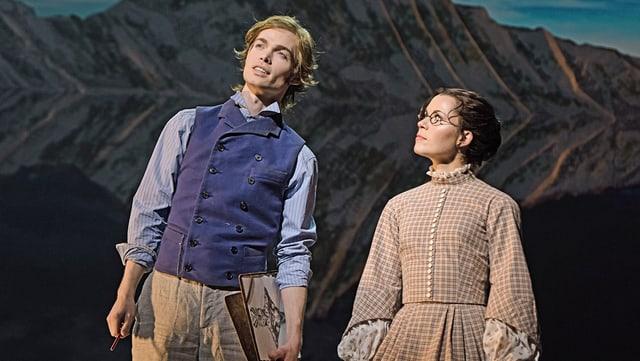 Oedo Kuipers als Edward Whymper und Lisa Antoni als Olivia Buckingham.