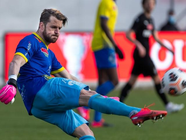 Torhüter Cédric Zimmermann vom Erstligisten Vevey United.
