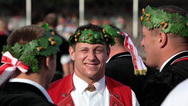 Jörg Abderhalden in Tracht.