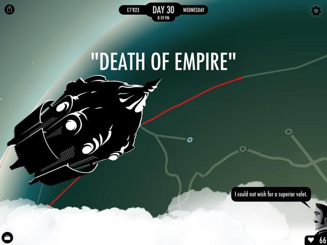 Eine Rakete namens «Death of Empire».